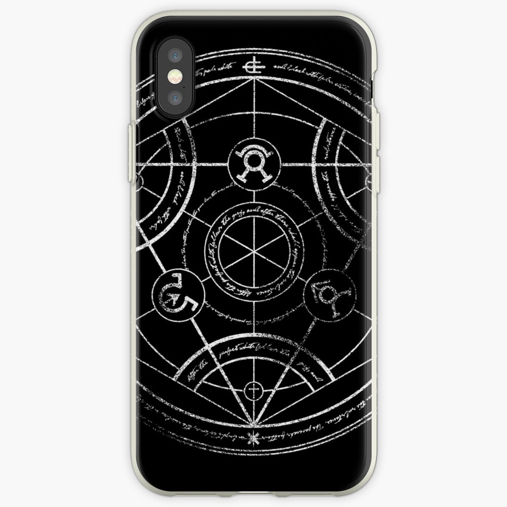 Human transmutation circle - chalk iPhone Cases & Covers