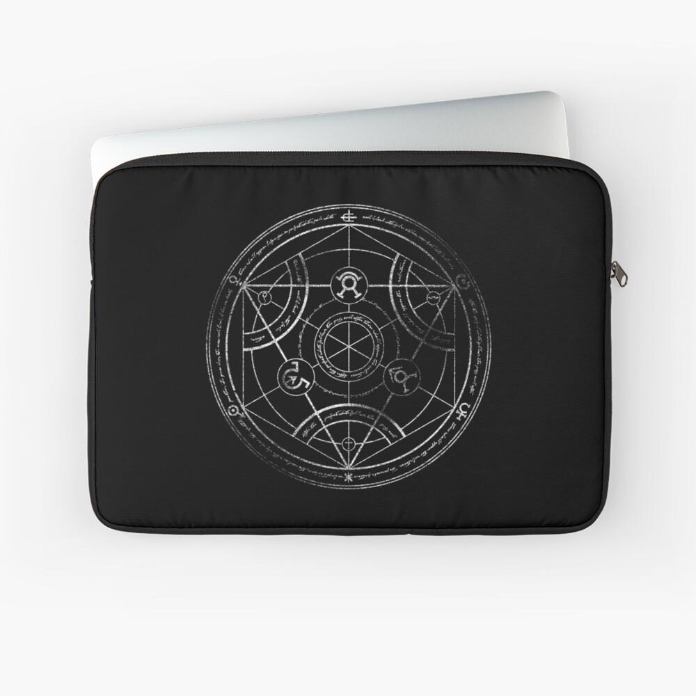 Human transmutation circle - chalk Laptop Sleeve
