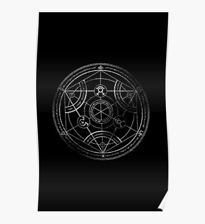 Human transmutation circle - chalk Poster