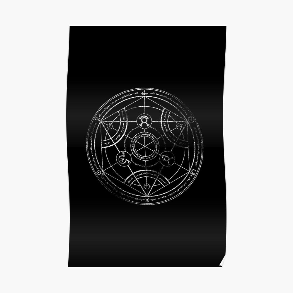 Menschlicher Transmutationskreis - Kreide Poster