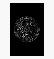 Human transmutation circle - chalk Photographic Print