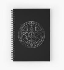Cuaderno de espiral Círculo de transmutación humana - tiza