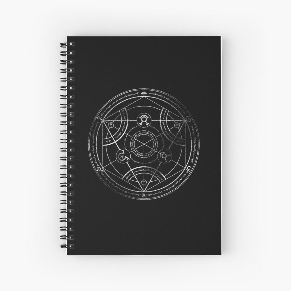 Human transmutation circle - chalk Spiral Notebook
