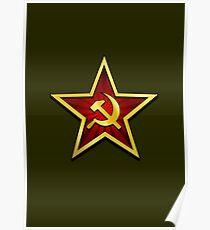 Soviet Gold Star Poster