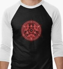 Human Transmutation Circle - Red Men's Baseball ¾ T-Shirt