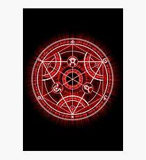 Human Transmutation Circle - Red Photographic Print