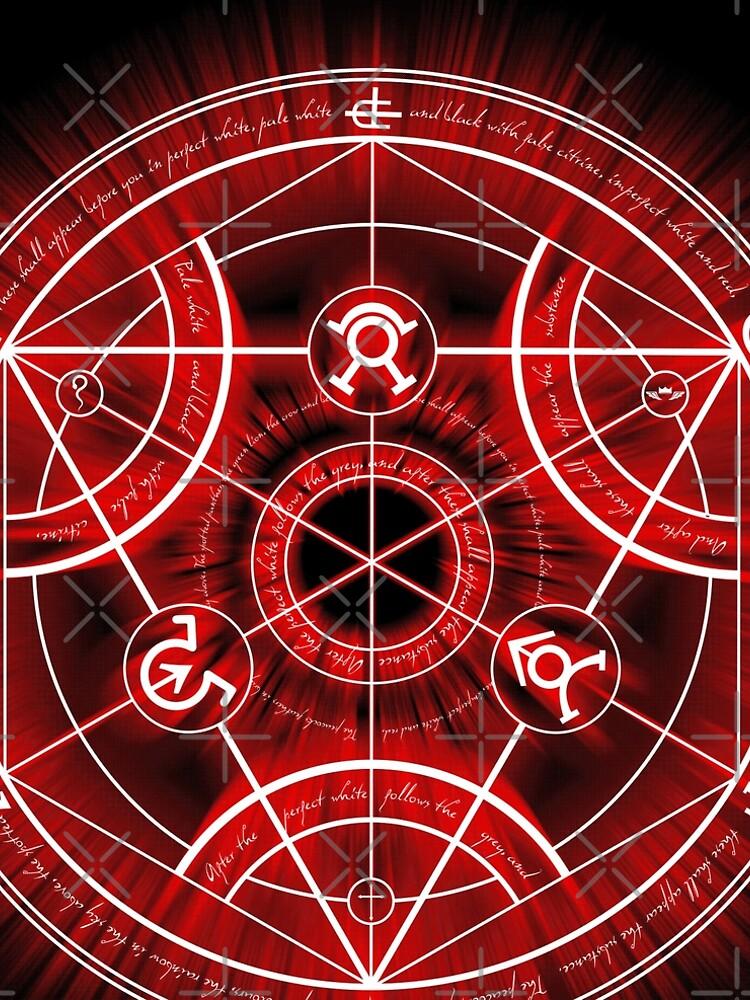 Human Transmutation Circle - Red by RevolutionGFX
