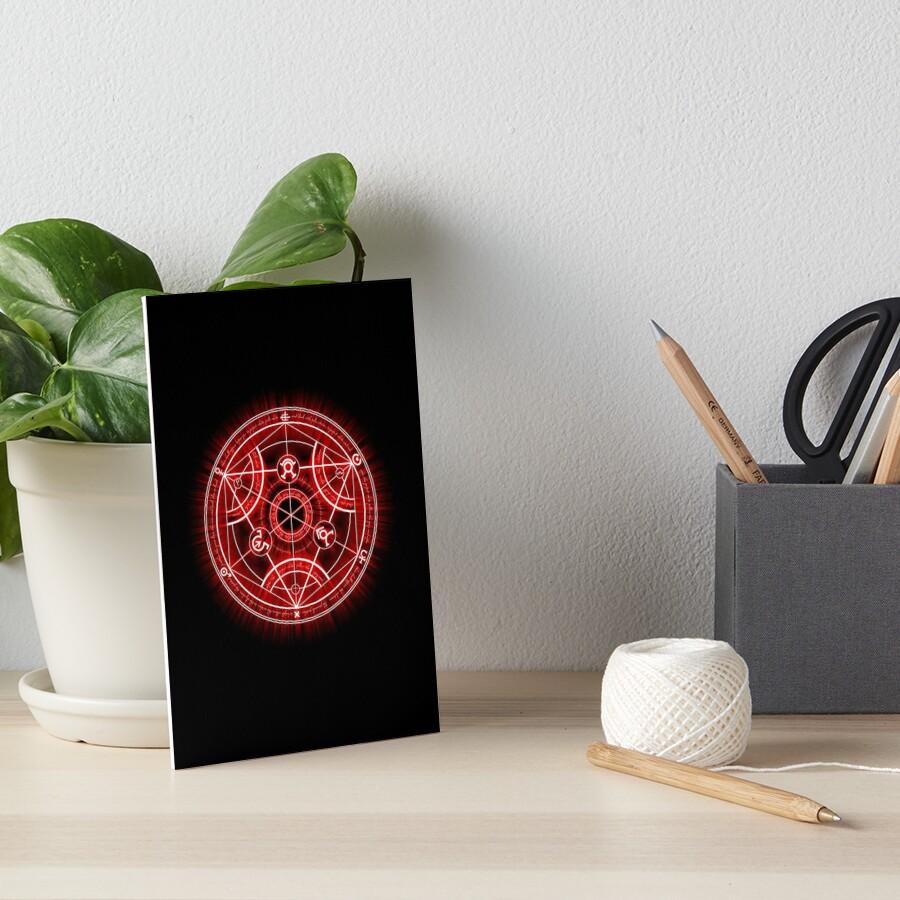 Human Transmutation Circle - Red Art Board Print