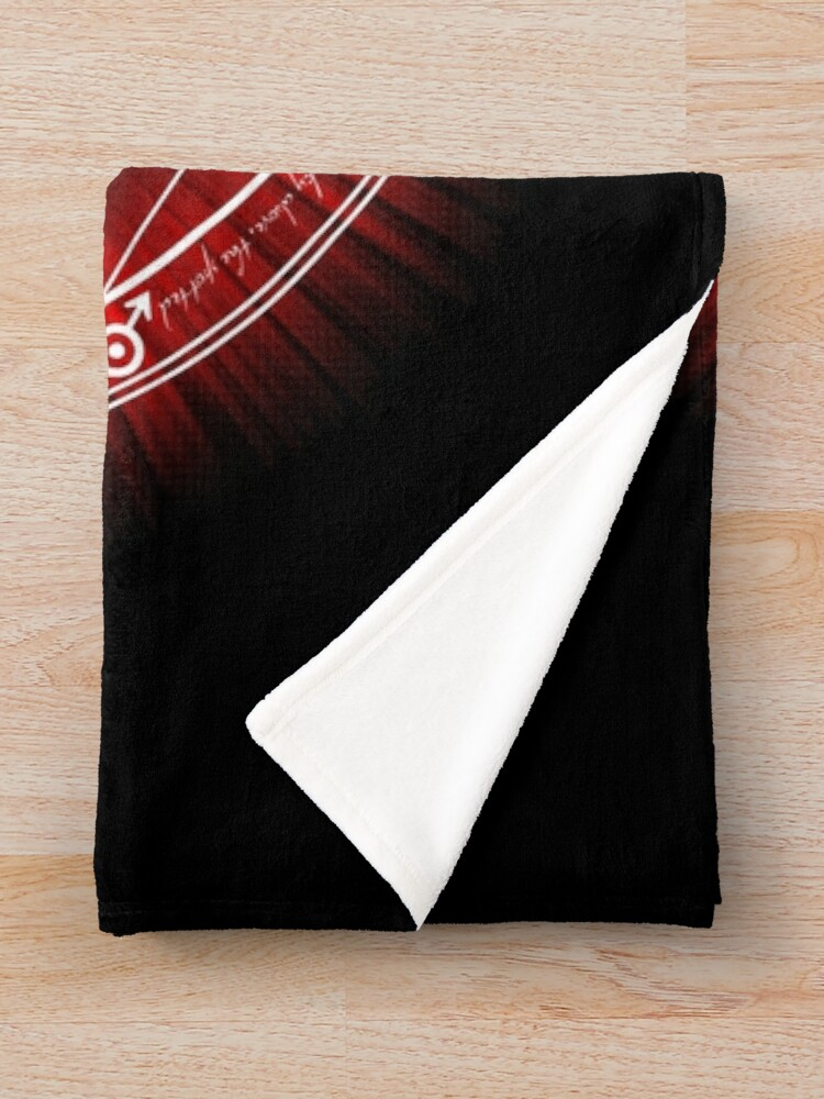 Alternate view of Human Transmutation Circle - Red Throw Blanket
