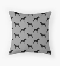 Jack Russell Terrier Silhouette(s) Throw Pillow