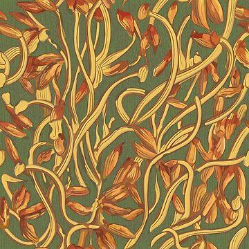 Banksia Herz (Blumenmuster) von runcatrun