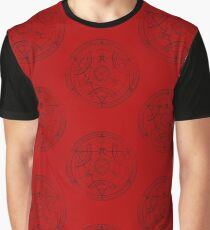 Human transmutation circle - charcoal Graphic T-Shirt