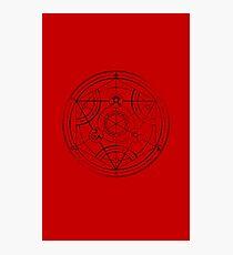 Human transmutation circle - charcoal Photographic Print