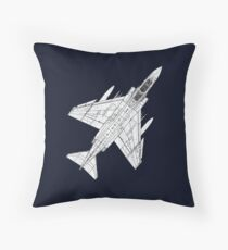 F4 Phantom Fighter Aircraft Throw Pillow