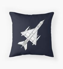 Fighter Aircraft MIG 21 Throw Pillow