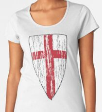 Crusader Knights Templar Cross Women's Premium T-Shirt