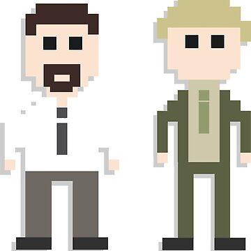 The Office UK David Brent & Gareth Keenan Merchandise - 8-bit, Retro & Gamified by tellytee
