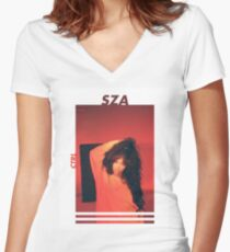 SZA Women's Fitted V-Neck T-Shirt