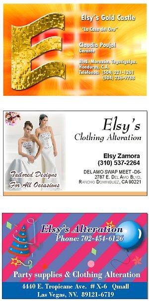 Elsy's Business Cards by jamontoya