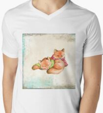 Winter Love: Christmas Foxes T-Shirt