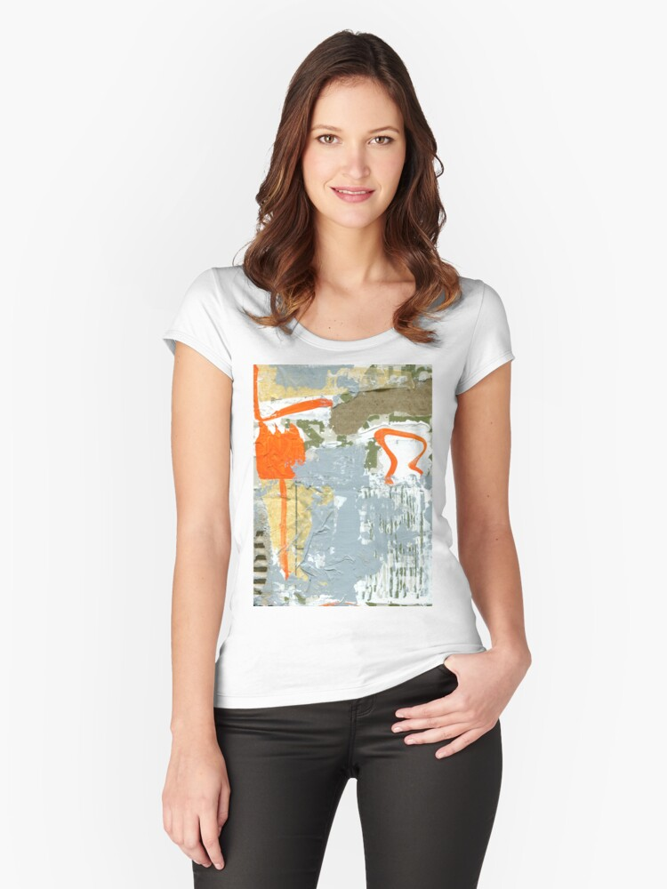 boffins box three Women's Fitted Scoop T-Shirt Front