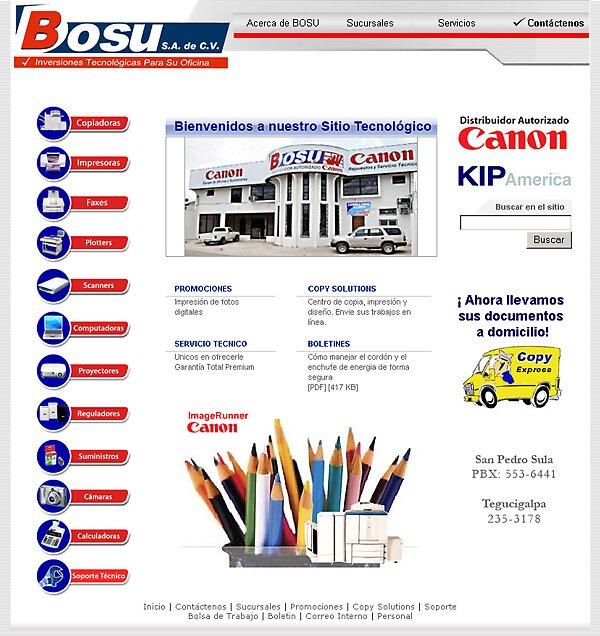 Bosu Canon Website by jamontoya