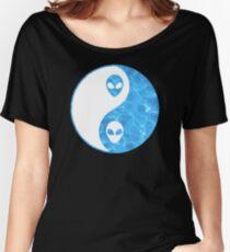 Ying Yang Alien Women's Relaxed Fit T-Shirt