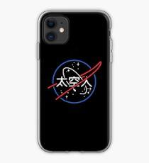 NASA Aesthetic Japanese Neon Logo  iPhone Case