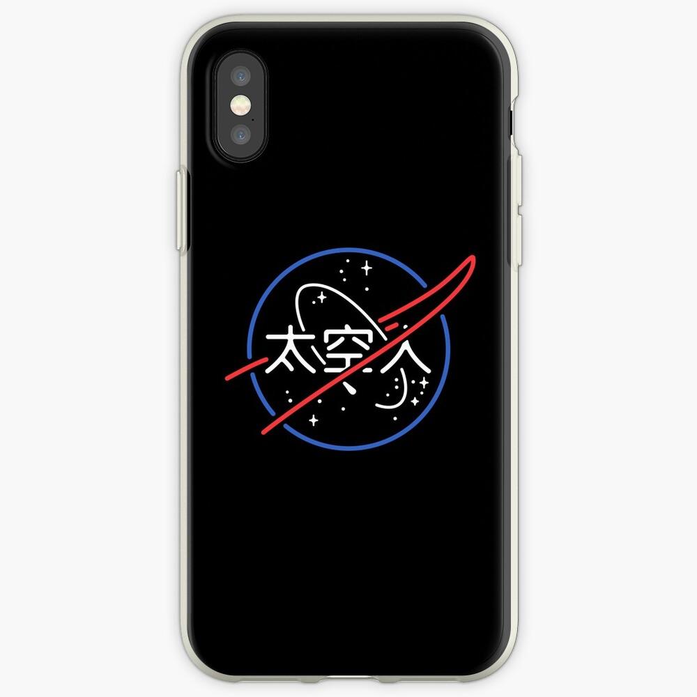 NASA Ästhetisches japanisches Neon-Logo iPhone-Hüllen & Cover