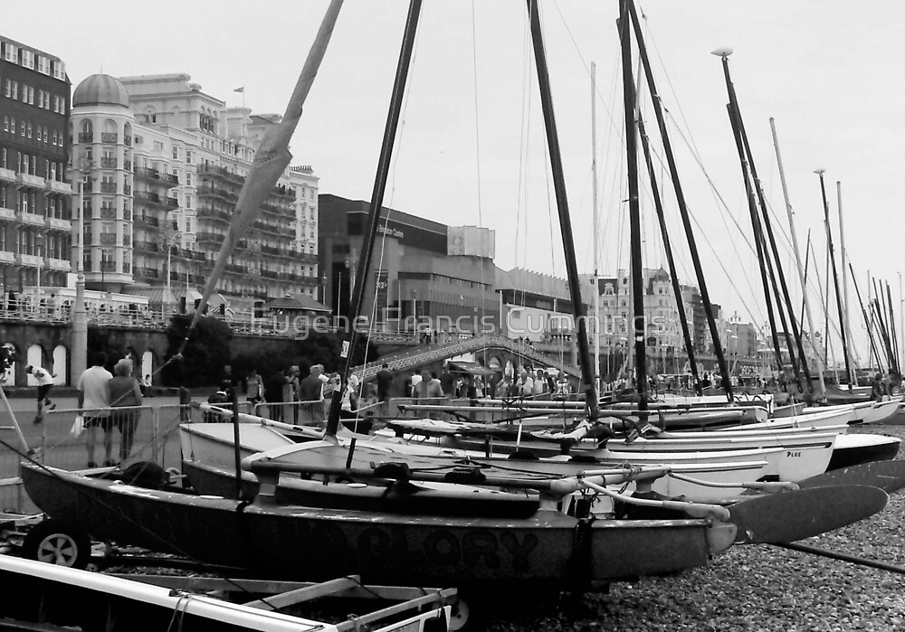 Beached on Brighton Sea Front. by Eugene Francis Cummings