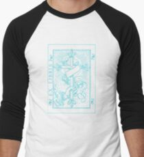 Cross Banner & Fleur De Lys Men's Baseball ¾ T-Shirt