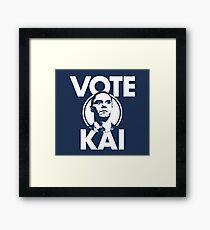 Vote Kai Tv Show Series Framed Print