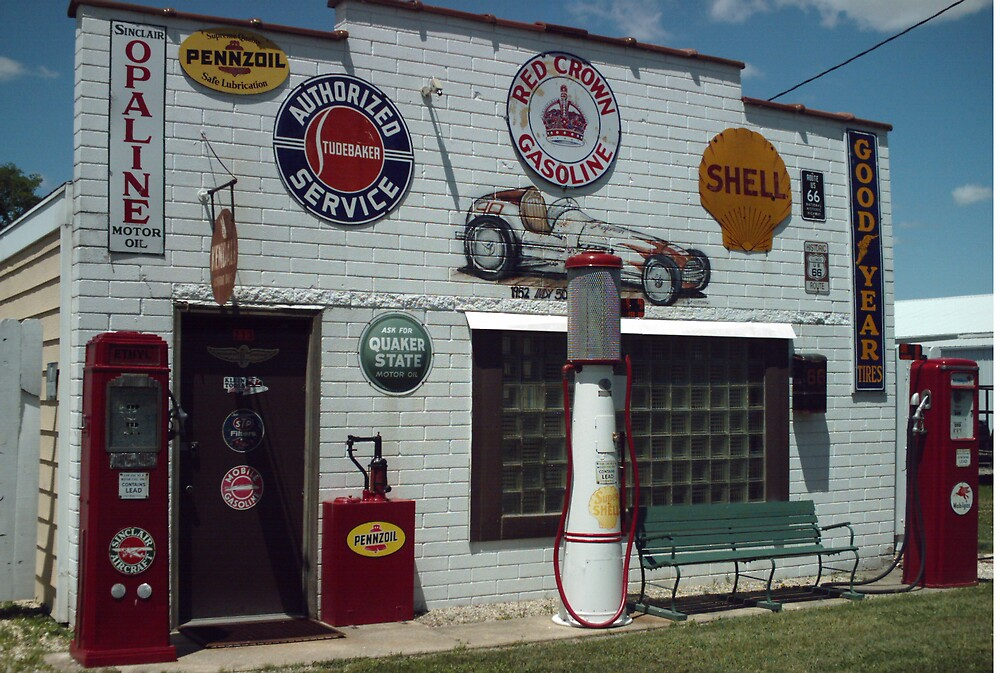 DWIGHT SERVICE STATION by Paul Butler