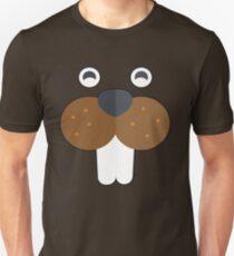 Beaver Face Wild Animal Features Unisex T-Shirt