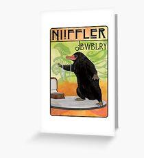 Niffler Jewelry Greeting Card