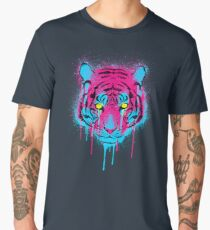 CMYK Tiger Graffiti Men's Premium T-Shirt