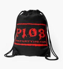 PARTY103 NWO Inspired Red Drawstring Bag