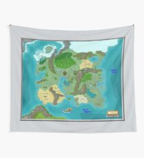 SOLAR Map of the Sutherlands Full Color Wall Tapestry