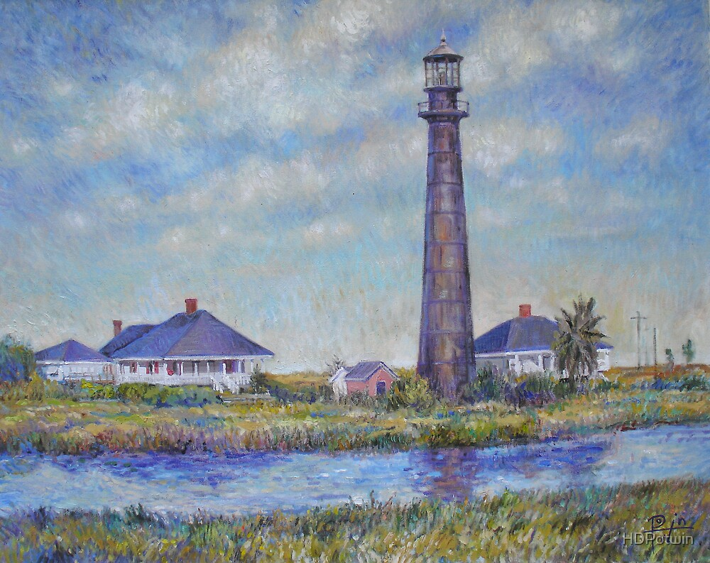 Port Bolivar Lighthouse and Outbuildings by HDPotwin