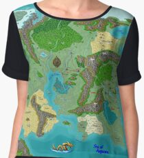 SOLAR Map of the Sutherlands Full Color Chiffon Top