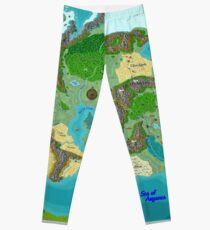 SOLAR Map of the Sutherlands Full Color Leggings
