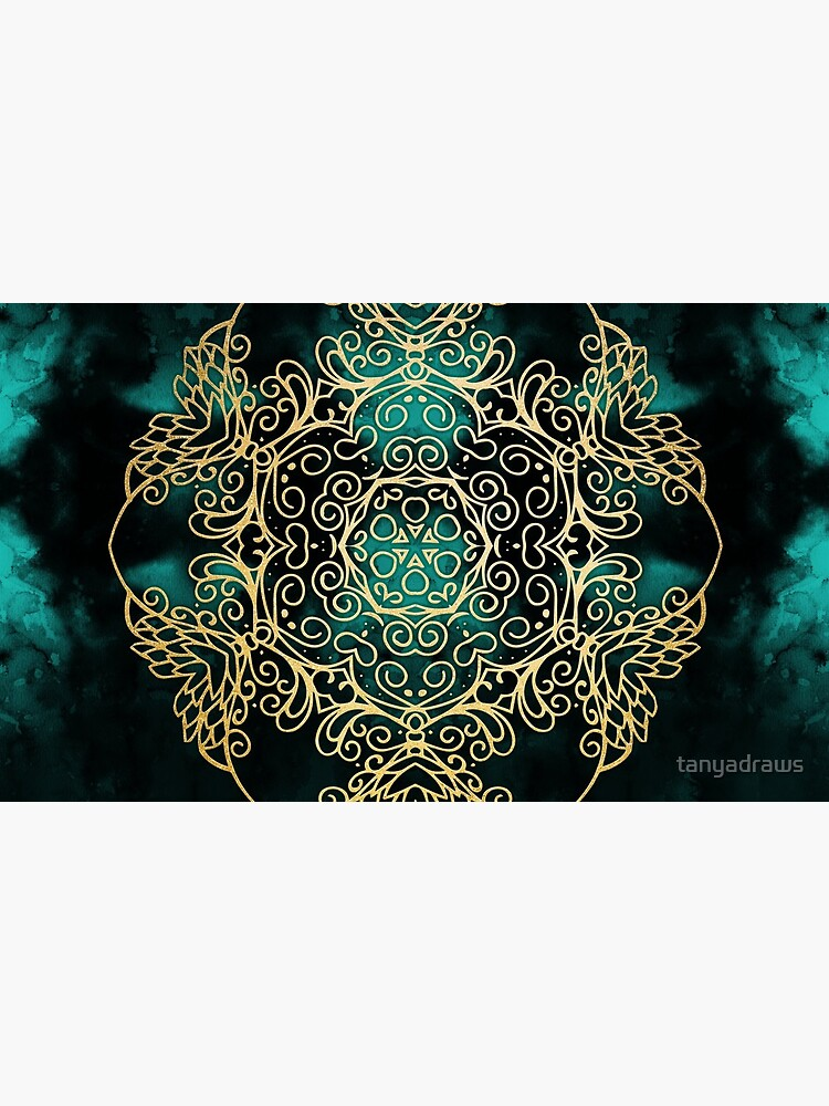 Gold & Dark Mandala by tanyadraws