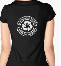 I support recycling Women's Fitted Scoop T-Shirt