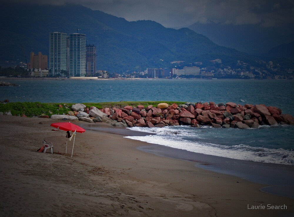 Red Umbrella by Laurie Search