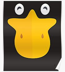 Duck Face Funny Animal Bill Poster