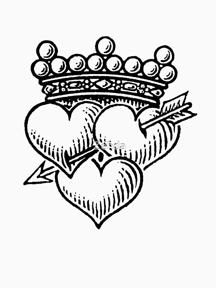 Three Hearts Crown & Dagger by Zehda