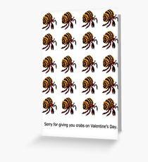 """Crabs"" Valentine Greeting Card"