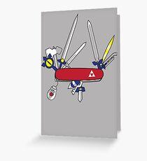 Hylian Army Knife Greeting Card