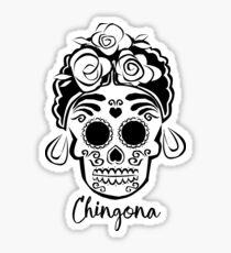 Día de los Muertos Chingona ~ Day of the Dead Bad Ass Sticker