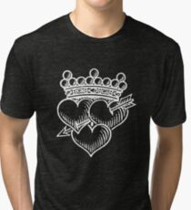 Three Hearts Crown &  Dagger Tri-blend T-Shirt
